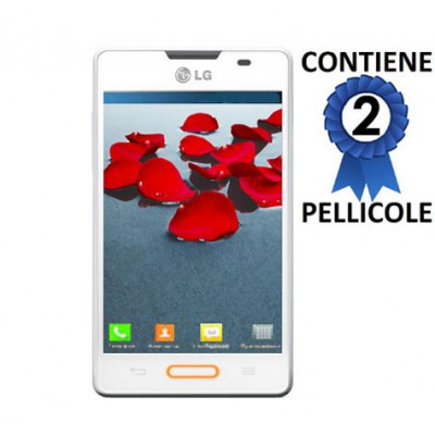 PELLICOLA PROTEGGI DISPLAY LG OPTIMUS L4 II, E440 CONFEZIONE 2 PEZZI