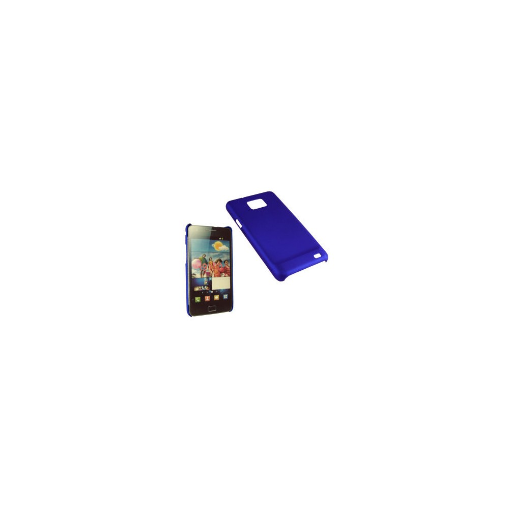 CUSTODIA BACK RIGIDA per SAMSUNG I9100 GALAXY S2, I9105 GALAXY S2 PLUS COLORE BLU