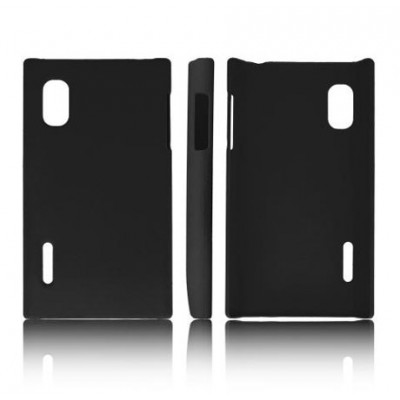 CUSTODIA BACK RIGIDA per LG E610 OPTIMUS L5, E612 COLORE NERO