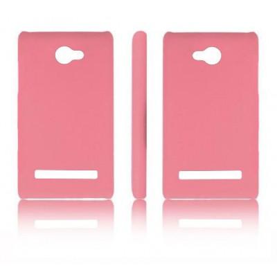 CUSTODIA BACK RIGIDA per HTC 8S WINDOWS PHONE, A620E COLORE ROSA