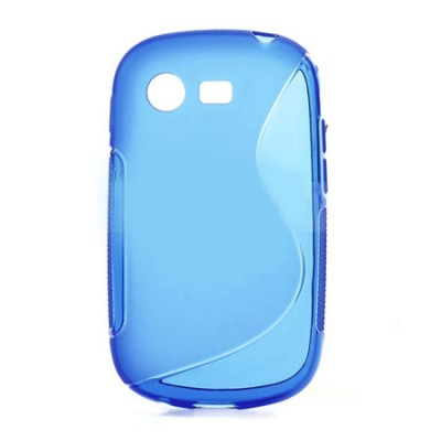 CUSTODIA GEL TPU SILICONE DOUBLE per SAMSUNG S5280 GALAXY STAR, S5282 COLORE BLU