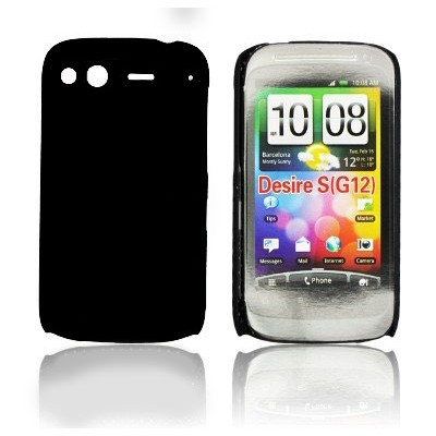 CUSTODIA BACK RIGIDA per HTC DESIRE S, G12 COLORE NERO