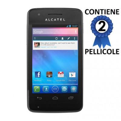 PELLICOLA PROTEGGI DISPLAY ALCATEL ONE TOUCH S'POP 4030 CONFEZIONE 2 PEZZI
