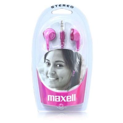 AURICOLARE STEREO per MP3 E MP4 CON JACK DA 3,5 mm COLORE FUCSIA 190243 EB-98P STEREO EAR BUDS MAXELL BLISTER