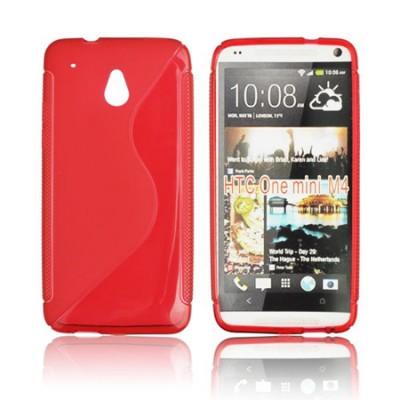 CUSTODIA GEL TPU SILICONE DOUBLE per HTC ONE MINI, M4 COLORE ROSSO