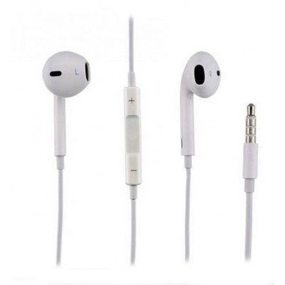 AURICOLARE STEREO ORIGINALE APPLE per IPHONE 6, IPHONE 6 PLUS, IPAD AIR CON TASTO DI RISPOSTA E VOLUME MD827ZM/A BULK