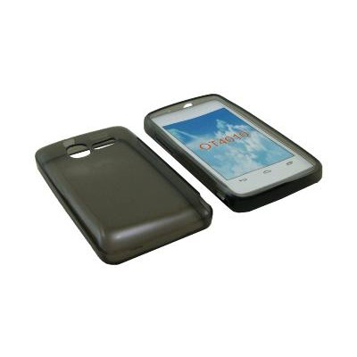 CUSTODIA GEL TPU SILICONE SEMI-RIGIDA per VODAFONE SMART MINI 875, ALCATEL ONE TOUCH T'POP, 4010D, 4010E COLORE NERO