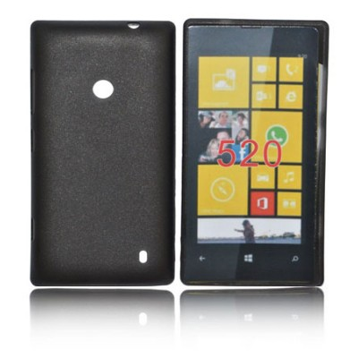 CUSTODIA BACK RIGIDA SLIM DA 0,35mm per NOKIA LUMIA 520, LUMIA 525 COLORE NERO