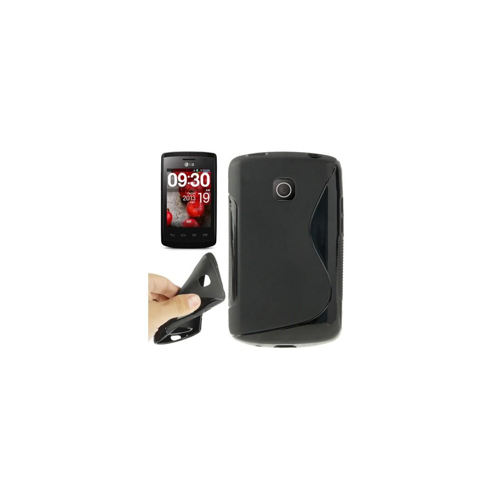 Custodia Gel Tpu Silicone Double Per Lg Optimus L1 Ii E410 Colore Nero White