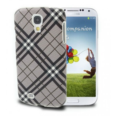 CUSTODIA BACK RIGIDA per SAMSUNG I9500 GALAXY S4, I9505, I9502 FANTASIA SCOZZESE COLORE MARRONE SCURO