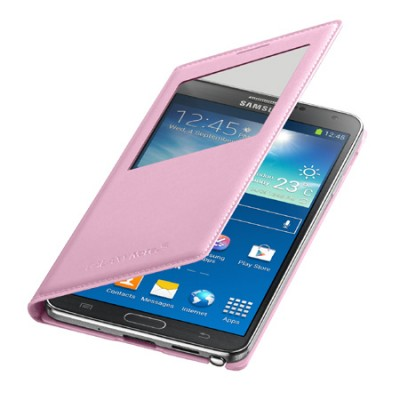 CUSTODIA ORIGINALE SAMSUNG EF-CN900BIEGWW - S VIEW COVER ROSA per GALAXY NOTE 3, N9000 BLISTER
