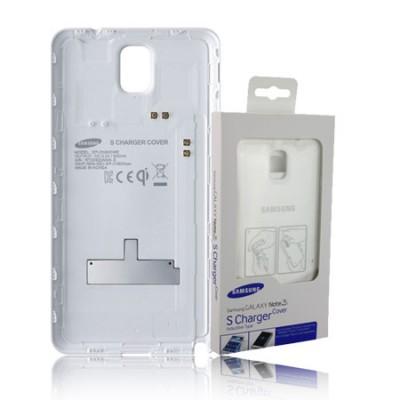 COVER CON TECNOLOGIA QI ORIGINALE per SAMSUNG GALAXY NOTE 3, N9000, N9002, N9005 COLORE BIANCO EP-CN900IWEGWW BLISTER