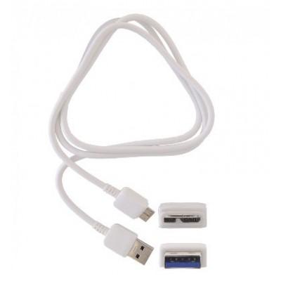CAVO USB 3.0 per SAMSUNG N9000 GALAXY NOTE 3, G900F GALAXY S5 LUNGHEZZA 1 MT. COLORE BIANCO