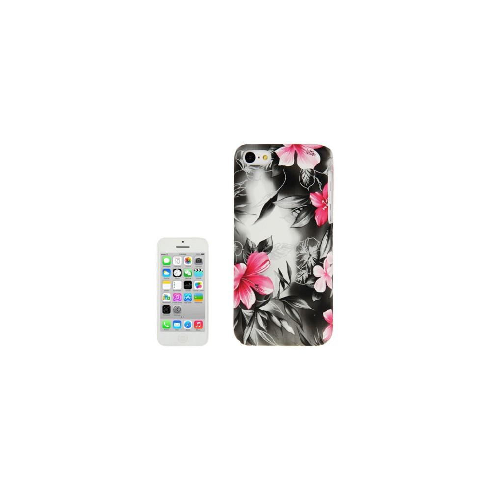 Custodia Back Rigida Per Apple Iphone 5c Fantasia Fiori Rosa Su