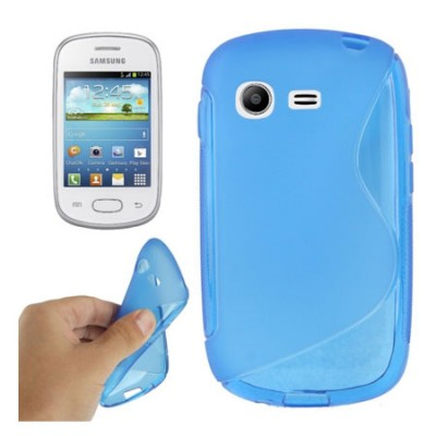 CUSTODIA GEL TPU SILICONE DOUBLE per SAMSUNG S5310 GALAXY POCKET NEO, S5312 COLORE BLU