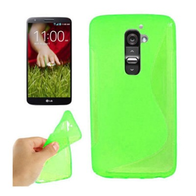 CUSTODIA GEL TPU SILICONE DOUBLE per LG OPTIMUS G2, D802, D802TA, D803 COLORE VERDE