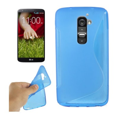 CUSTODIA GEL TPU SILICONE DOUBLE per LG OPTIMUS G2, D802, D802TA, D803 COLORE BLU