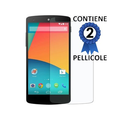 PELLICOLA PROTEGGI DISPLAY LG NEXUS 5 D820 CONFEZIONE 2 PEZZI