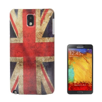 CUSTODIA BACK RIGIDA per SAMSUNG GALAXY NOTE 3, N9000, N9002, N9005 FANTASIA BANDIERA UK ANTICATA