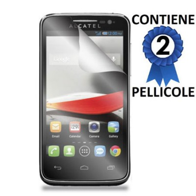 PELLICOLA PROTEGGI DISPLAY ALCATEL ONE TOUCH EVOLVE CONFEZIONE 2 PEZZI