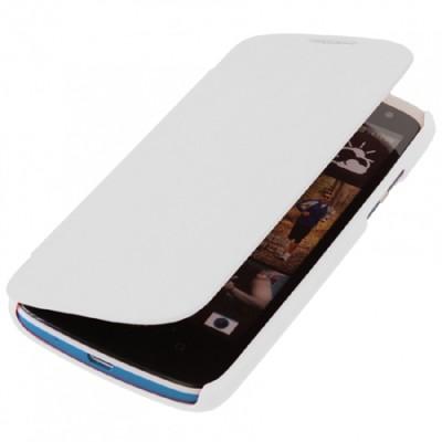 CUSTODIA FLIP ORIZZONTALE per HTC DESIRE 500 COLORE BIANCO