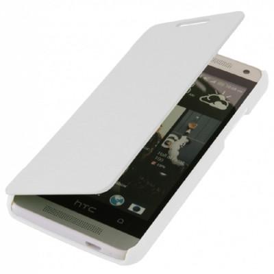 CUSTODIA FLIP ORIZZONTALE per HTC ONE MINI, M4 COLORE BIANCO