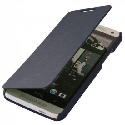 CUSTODIA FLIP ORIZZONTALE per HTC ONE MINI, M4 COLORE BLU