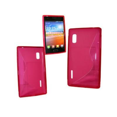 CUSTODIA GEL TPU SILICONE DOUBLE per LG E610 OPTIMUS L5, E612 COLORE ROSA
