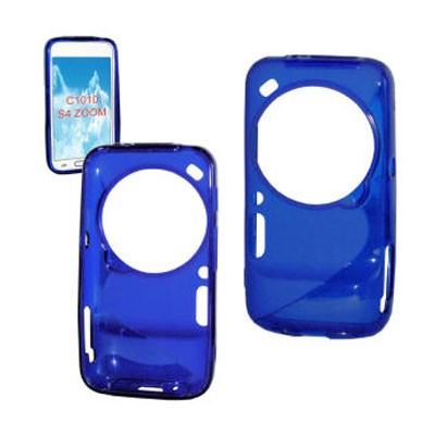 CUSTODIA GEL TPU SILICONE DOUBLE per SAMSUNG C1010 GALAXY S4 ZOOM, C101 COLORE BLU