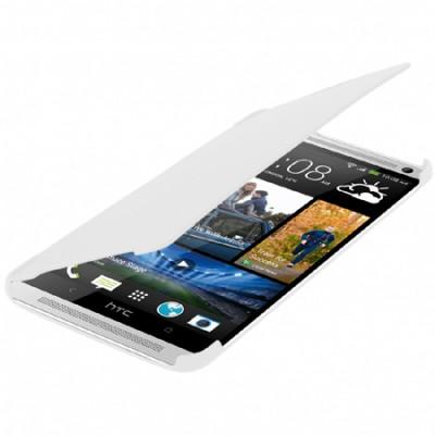 CUSTODIA FLIP ORIZZONTALE per HTC ONE MAX COLORE BIANCO