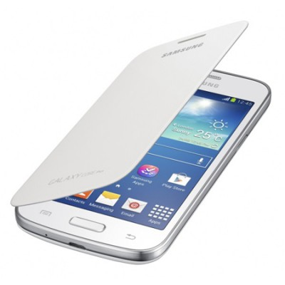 CUSTODIA FLIP COVER ORIGINALE SAMSUNG COLORE BIANCO per G3500 GALAXY CORE PLUS EF-FG350NWEGWW BLISTER