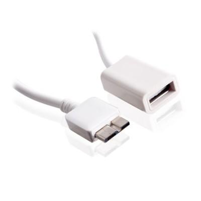 ADATTATORE DA USB FEMMINA A MICRO USB 3.0  per SAMSUNG N9000 GALAXY NOTE 3, G900 GALAXY S5 COLORE BIANCO
