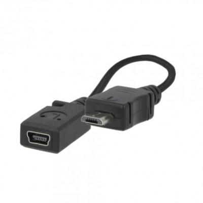 ADATTATORE da MINI USB FEMMINA A MICRO USB MASCHIO CON CAVO
