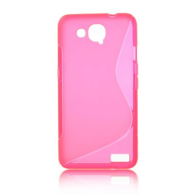 CUSTODIA GEL TPU SILICONE DOUBLE per ALCATEL ONE TOUCH 6034 IDOL S COLORE ROSA