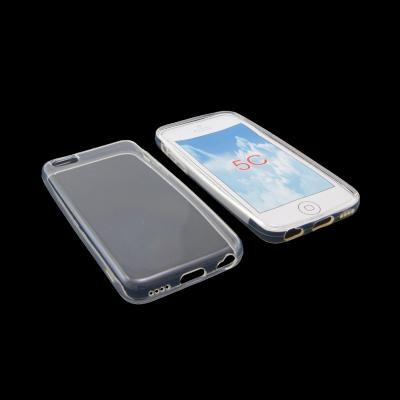 CUSTODIA GEL TPU SILICONE per APPLE IPHONE 5c COLORE BIANCO