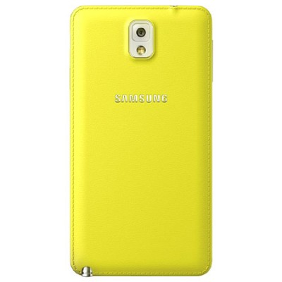 BACK COVER ORIGINALE SAMSUNG COLORE GIALLO per N9000 GALAXY NOTE 3 ET-BN900SGEGWW BLISTER