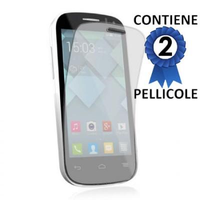 PELLICOLA PROTEGGI DISPLAY per ALCATEL ONE TOUCH POP C3 CONFEZIONE 2 PEZZI