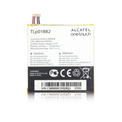 BATTERIA ORIGINALE ALCATEL TLP018B2 per ONE TOUCH IDOL 6030, FIERCE 7024 1800 mAh LI-ION BULK SEGUE COMPATIBILITA'..