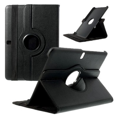 CUSTODIA BOOK PELLE GIREVOLE per SAMSUNG GALAXY TAB PRO 12.2, SM-T900, SM-T905 CON STAND E CHIUSURA AD ELASTICO COLORE NERO