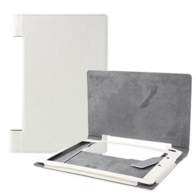 CUSTODIA BOOK ORIZZONTALE PELLE per LENOVO YOGA TABLET B6000 8' POLLICI COLORE BIANCO