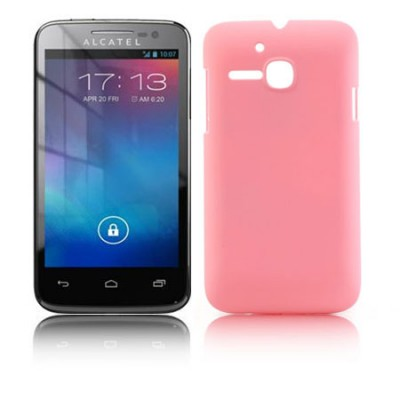 CUSTODIA BACK RIGIDA per ALCATEL ONE TOUCH M'POP 5020D COLORE ROSA