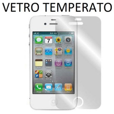 PELLICOLA PROTEGGI DISPLAY VETRO TEMPERATO 0,33mm per APPLE IPHONE 4, 4S