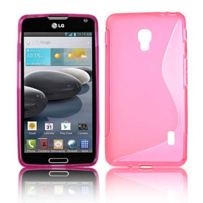 CUSTODIA GEL TPU SILICONE DOUBLE per LG OPTIMUS F6, D500, D505 COLORE ROSA