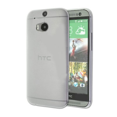 CUSTODIA BACK RIGIDA ULTRA SLIM DA 0,35mm per HTC ONE 2 ( M8 ), ONE M8s COLORE BIANCO