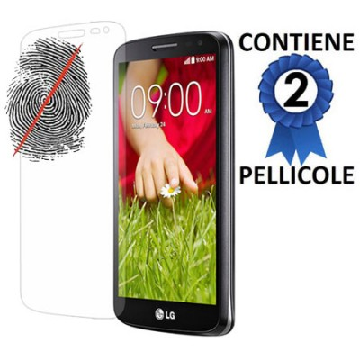 PELLICOLA PROTEGGI DISPLAY ANTIMPRONTA per LG G2 MINI CONFEZIONE 2 PEZZI