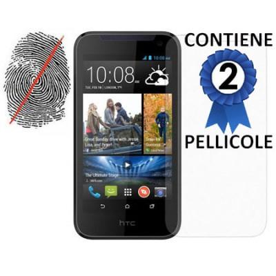 PELLICOLA PROTEGGI DISPLAY ANTI IMPRONTA per HTC DESIRE 310 CONFEZIONE 2 PEZZI