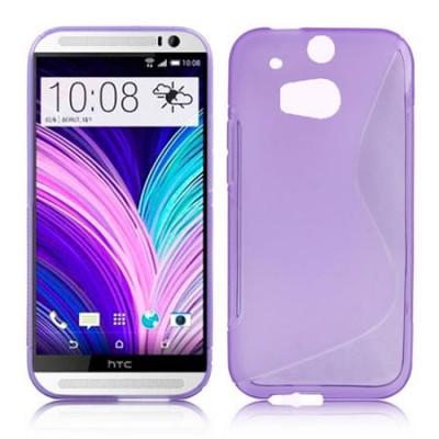 CUSTODIA GEL TPU SILICONE DOUBLE per HTC ONE 2 ( M8 ), ONE M8s COLORE VIOLA