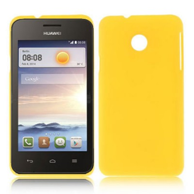 CUSTODIA BACK RIGIDA per HUAWEI ASCEND Y330 COLORE GIALLO