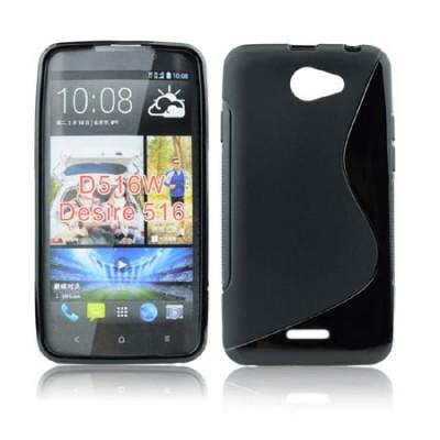 CUSTODIA GEL TPU SILICONE DOUBLE per HTC DESIRE 516, DESIRE 316 COLORE NERO