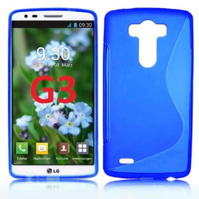 CUSTODIA GEL TPU SILICONE DOUBLE per LG G3 D850, D855, LS990 COLORE BLU